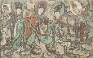 Paires-de-fresques-murales - vente 28-29juin2016 - Bernard Gomez Expert en art asiatique