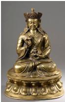 Portrai de lama assis en virasana - vente 2 décembre 2014- Bernard Gomez Expert en art asiatique