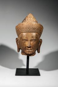 Tête-de-Vishnu-coiffée - vente 16 decembre 2015 - Bernard Gomez Expert en art asiatique