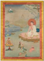 Tanla illustrant un Arhât - vente 2 décembre 2014- Bernard Gomez Expert en art asiatique
