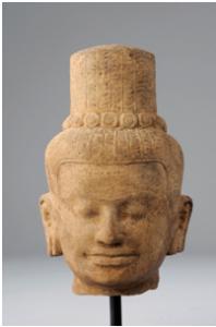 Tete de Shiva - vente Février 2012 - Bernard Gomez Expert en art asiatique