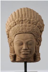 Tete de devata - vente Février 2012 - Bernard Gomez Expert en art asiatique