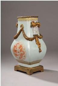Vase quadrngulaire de forme Hu en porcelaine - vente 10 Octobre 2011 - Bernard Gomez Expert en art asiatique