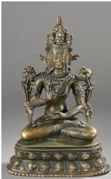 avalokiesvara padamapani assis en virasana - vente 2 décembre 2014- Bernard Gomez Expert en art asiatique